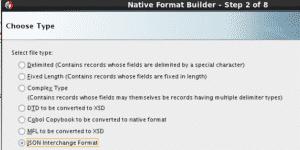 choix du format natif JSON